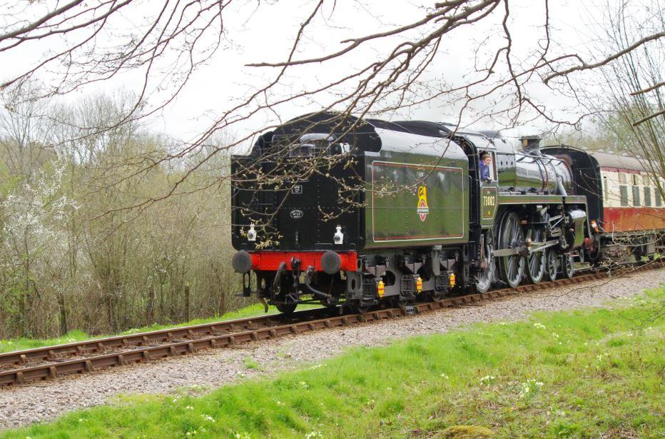A steam train down Bluebell Railway