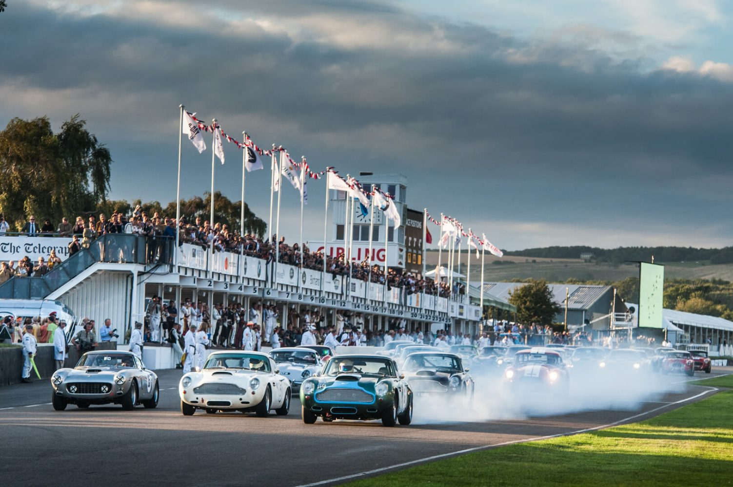 Vintage cars down race track at Goodwood Estate