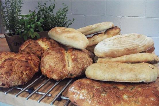 Freshly baked bread at the Artisan Bakehouse