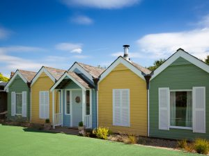 Beach hut accommodation at Bramley and Teal Holiday Cottages