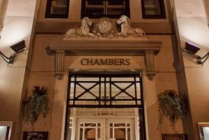 Entrance of Chambers restaurant in Shoreham