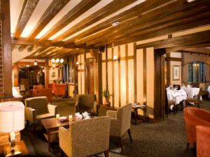 Cisswood House Hotel wooden beam interior