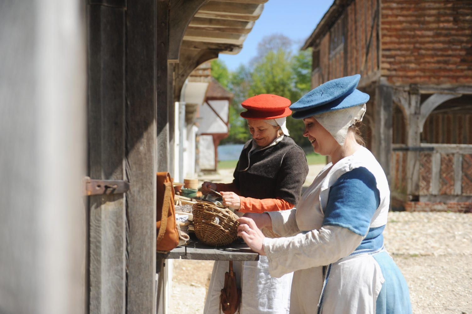 Staff in costume at Weald and Downland Living Museum