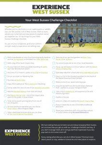 Experience West Sussex challenge checklist