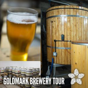 Goldmark Brewery tour logo