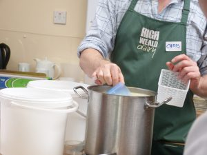 High Weald Dairy staff making cheese