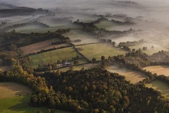 Birdseye image of High Weald countryside