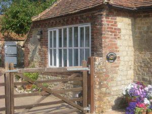 Honeysuckle Lodge entrance gate