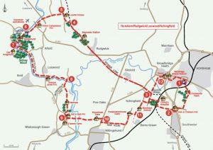 Map of Horsham Loxwood loop