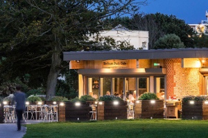 Hotham Park Cafe in the early evening