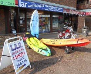 LAR watersports shop front