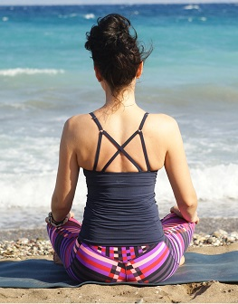 Meditation and yoga on the beach