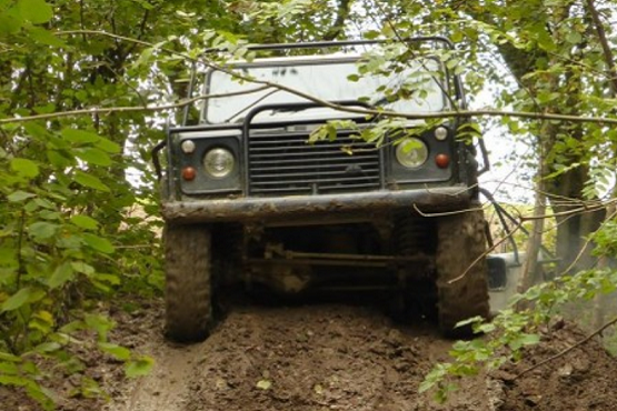 Off-roading in a 4x4