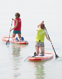 Paddle boarding on the West Sussex coast