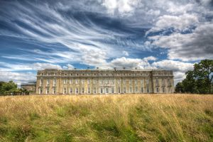 Petworth House on a cloudy day