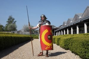 Roman man at Roman Fishbourne Palace
