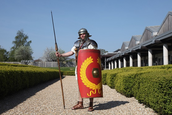 Roman man at Roman Fishbourne Palace