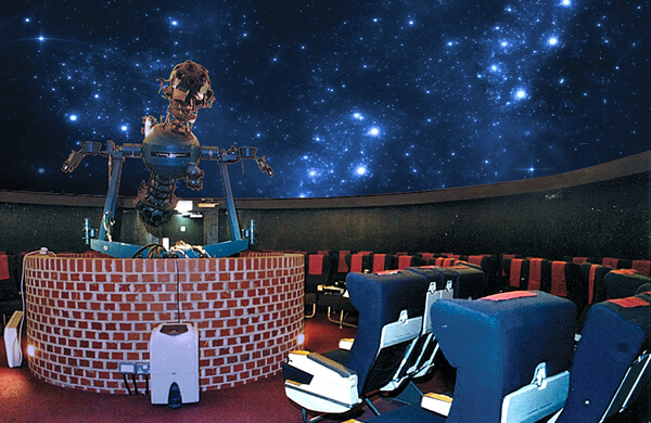 Inside the South Downs Planetarium