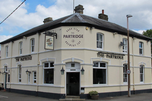 The outside of The Partridge