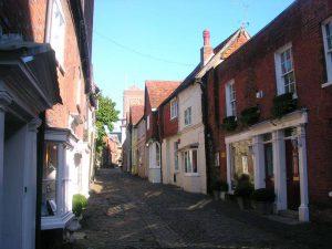 Cobblestone village in Petworth