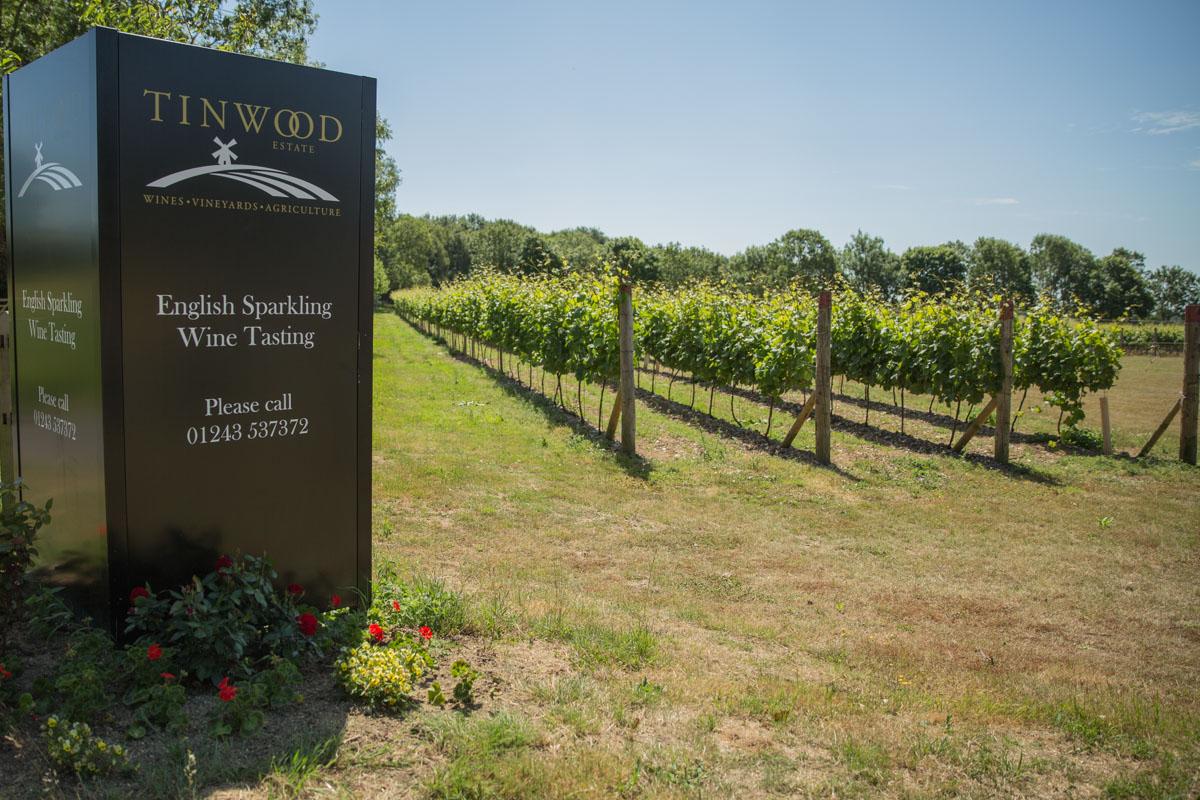 Tinwood Estate vineyard sign