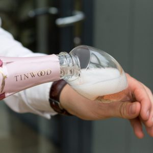 Tinwood Estate wine being poured into glass