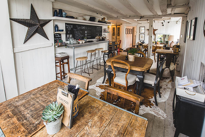 Scandinavian interior at Tom's Food, Cuckfield