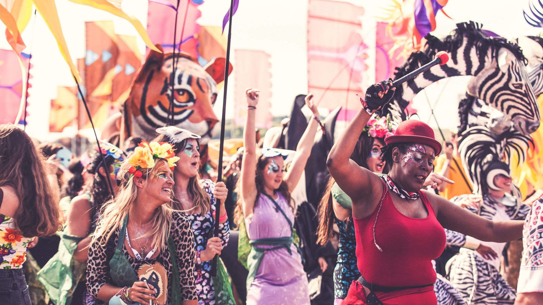 Crowd celebration at Wildlife festival