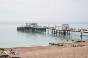 Worthing Pier on a clear day
