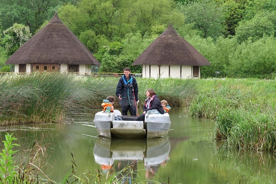 A family enjoying a day on the water at Arundel Wetland Centre