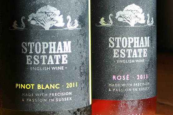 Stopham Estate white and rose wine labels