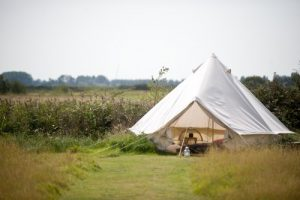 Bell tent at Billycan Camping in Arundel