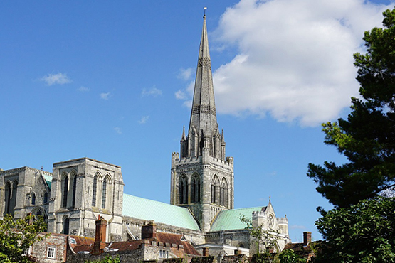 A shot of Chichester Cathedral