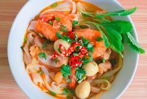 Noodle seafood dish at Royal Thai Taste