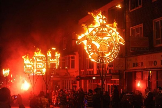 Burgess Hill bonfire