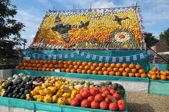 World-famous slindon pumpkin display