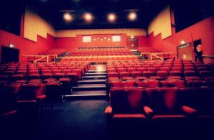 Red seating a the Regis Centre / Alexandra Theatre auditorium