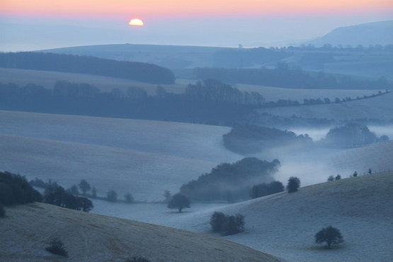 Ditchling Beacon at sunset