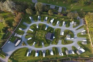 Arial view of Concierge Camping camp site