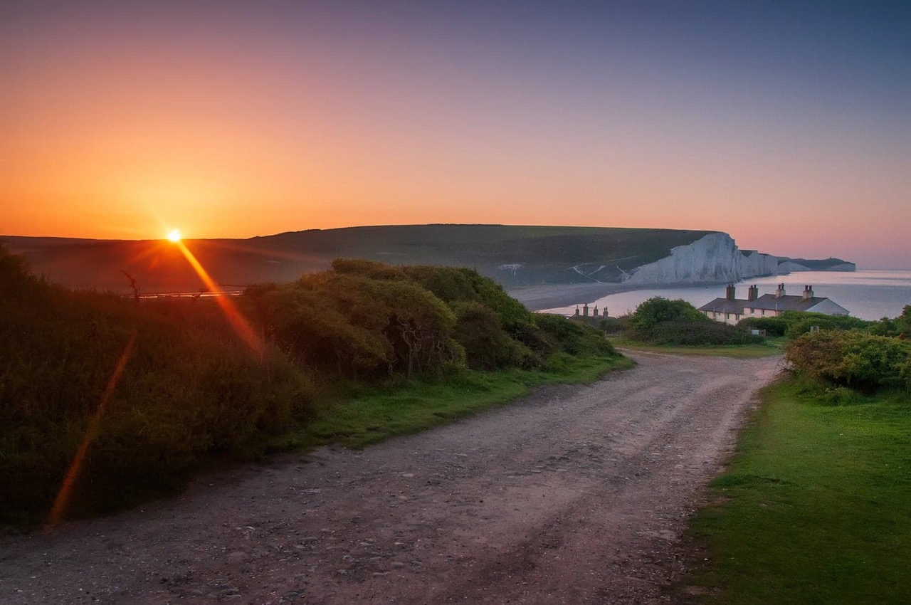 Sunrise over the Seven Sisters cliffs