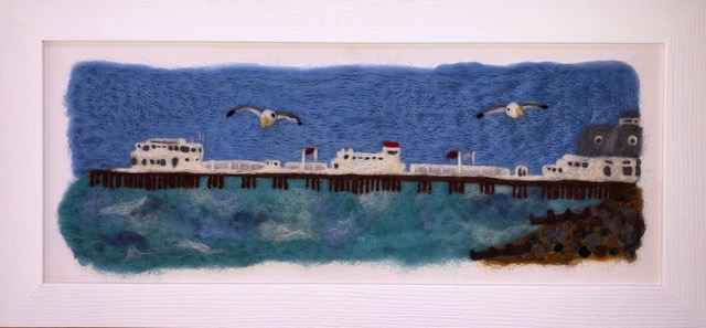 Some local artwork at Inspired by the Sea shop in Worthing