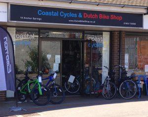 DutchThe front of Coastal Cycles and Dutch Bike Shop in Littlehampton