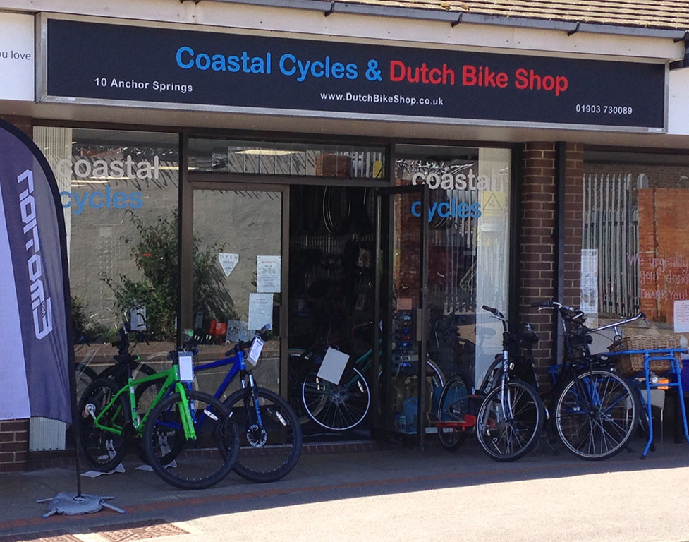 DutchThe front of Coastal Cycles and Dutch Bike Shop in Littlehampton