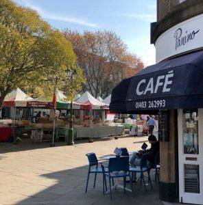 Outside of Panino cafe in Horsham