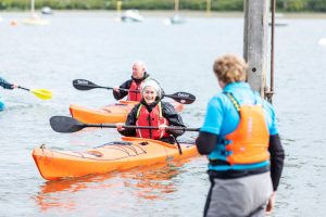 A kayaking lesson in Chichester Harbour, West Sussex