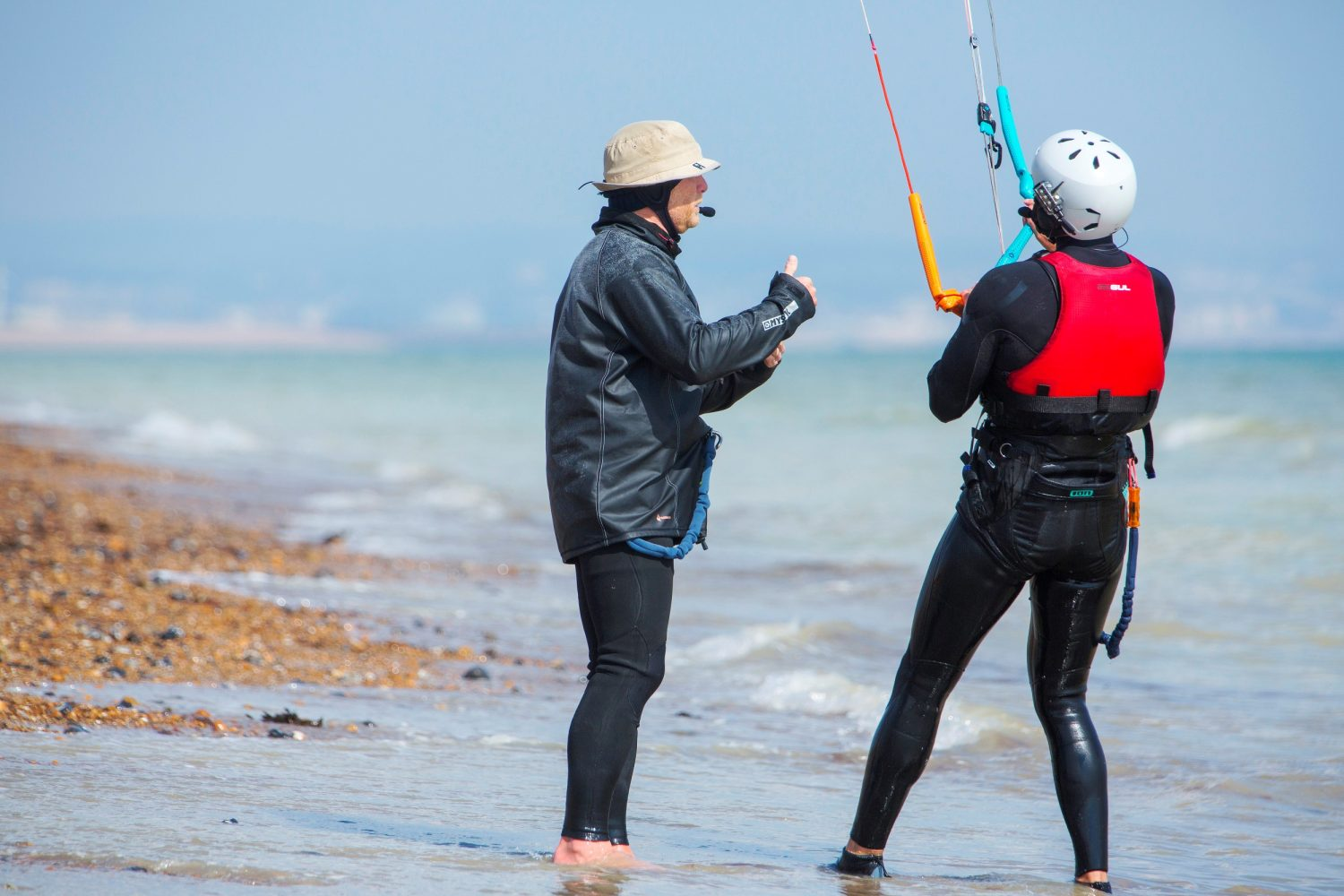 Learn to kitesurf in West Sussex