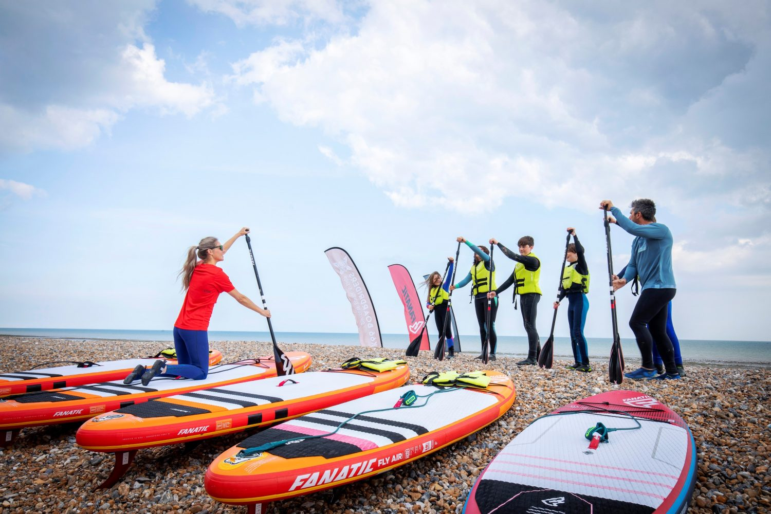 Paddleboarding lessons on Lancing beach