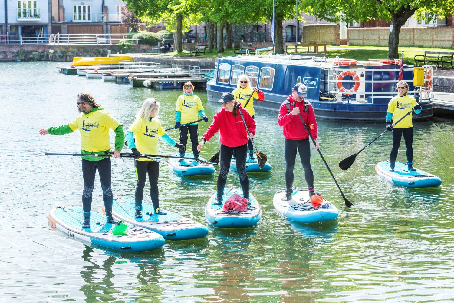 Paddleboarding lessons on Chichester Canal