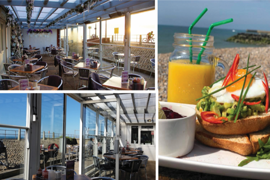 A montage of the Carats Cafe Bar, views and food
