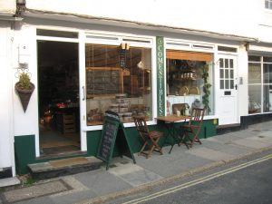 Front of Comestible's deli and cafe in Midhurst
